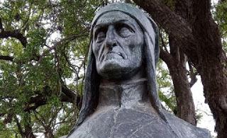 Dante Alighieri en el Jardín de los Poetas. La Divina Comedia en el Rosedal de Palermo.