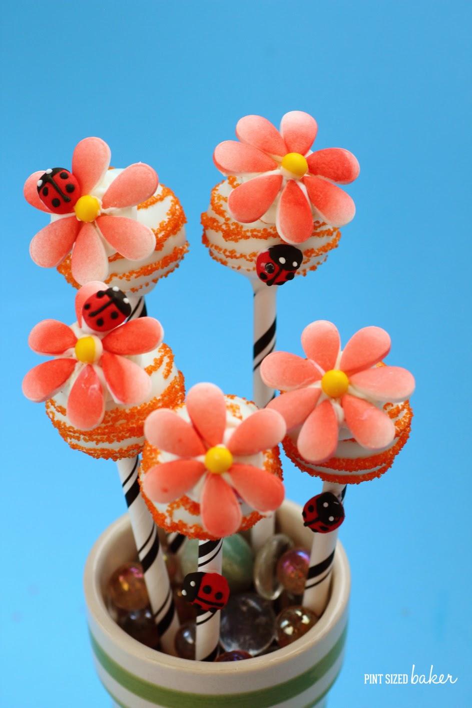 Easy Candy Flower Cake Pops Pint Sized Baker