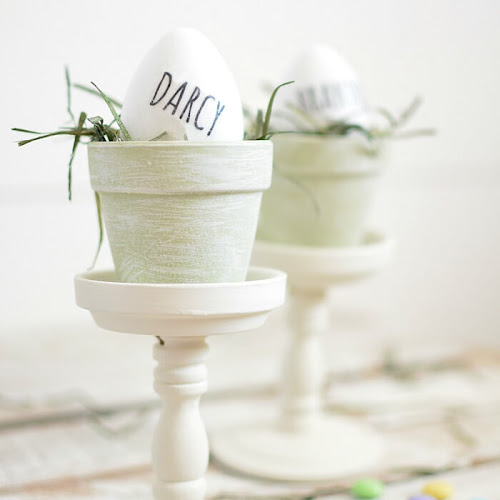 Rae Dunn-Inspired Easter Egg Place Card Holders