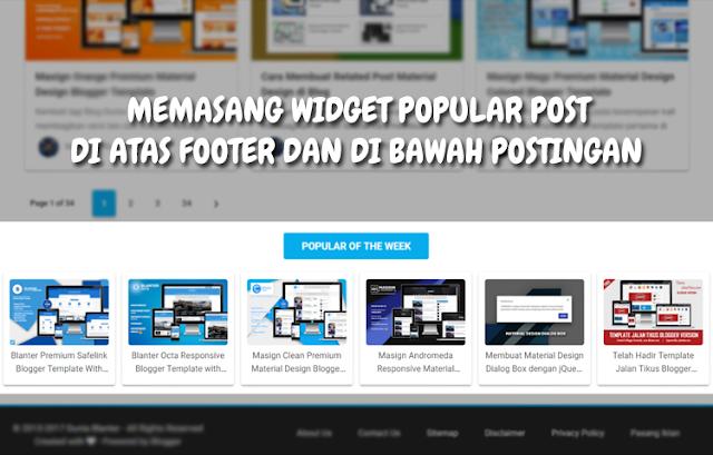 Cara Memasang Widget Popular Post di bawah Postingan