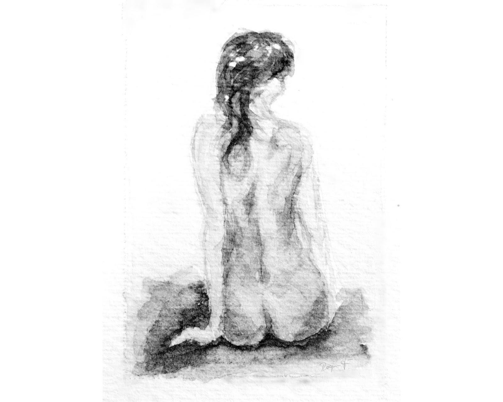 La Dame Drawing by Regina Hoer