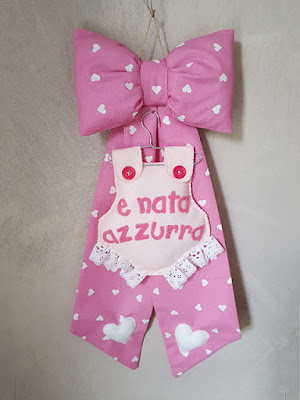 fiocco nascita tutina rosa