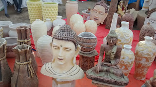 Handicrafts made of Fiber at Surajkund Crafts Fair