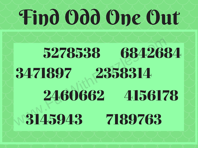 Odd One Out Tough Picture Brain Teaser