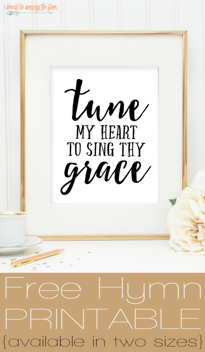 I Should Be Mopping The Floor Free Hymn Printable