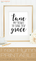 Free Hymn Printable: Come Thou Fount of Many Blessings, Tune My Heart to Sing Thy Grace | Two Sizes Available