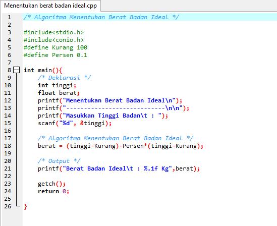 Membuat Program BMI di JavaScript