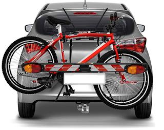 sinalizando o carro com transbike