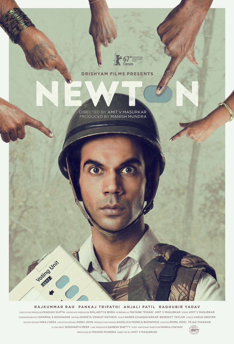 full cast and crew of Bollywood movie Newton 2017 wiki, Rajkummar Rao, Pankaj Tripathi, Anjali Patil Newton story, release date, Newton wikipedia Actress name poster, trailer, Video, News, Photos, Wallpaper