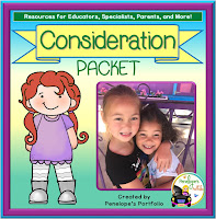 Consideration Character Education - Social Skills Teaching Packet