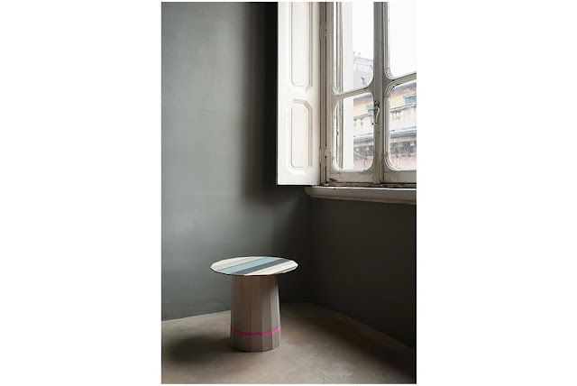Colour Wood side table designed by Scholten & Baijings for Karimoku New Standard in room