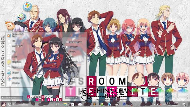 Windows 10 Ver. 1709 Theme Classroom of The Elite by Enji Riz