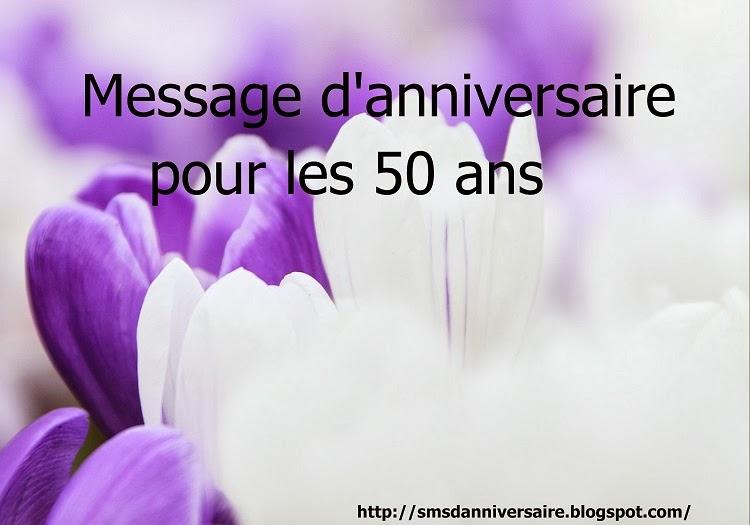 message 50 ans femme