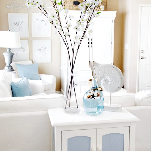 Norma From Paint Me Pink Found Her Beach Cottage Style With Pastel And Blue  And White. Dreamy Beach Photography And Basket Trays Decorate The Light  Sandy ...