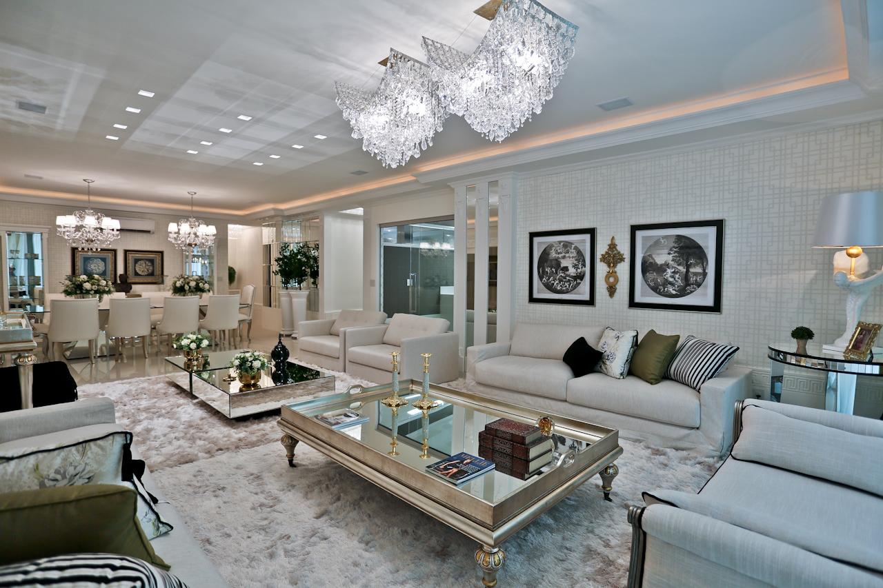 Sala de estar de luxo com escada id ias - Sala de estar ...