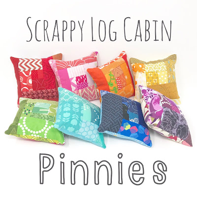 Scrappy Log Cabin Pincushion Tutorial