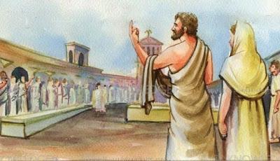 Η δίκη της Ασπασίας. Την κατηγόρησαν για ασέβεια   στους Θεούς και την αθώωσε το δάκρυ του Περικλή.