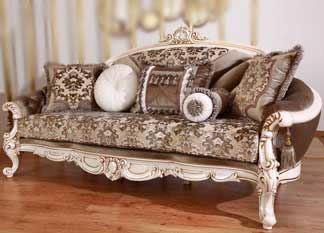 sofa ukir mewah untuk ruang keluarga