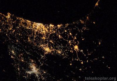 Uzaydan Gazze ve İsrail