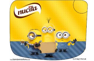 Etiqueta Nucita de Película de los Minions para imprimir gratis.