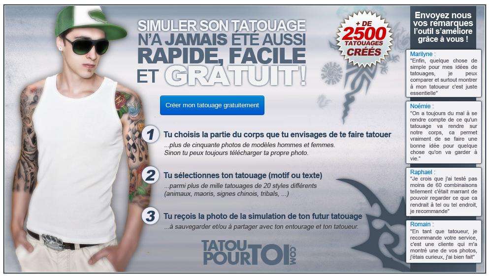 Tatouages301: créer son tatouage en ligne