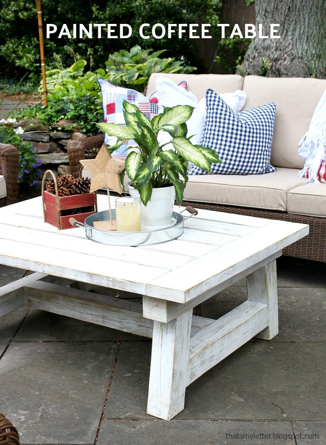 painted outdoor coffee table