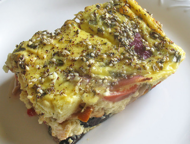 eggplant mushroom cheesy quiche