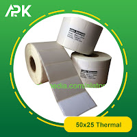 stiker label barcode thermal 50x25mm