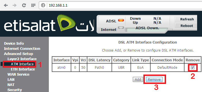 Etisalat Support: Sagemcom F@st 1704 router configuration