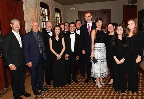 King Felipe VI and Queen Letizia of Spain attended an official dinner