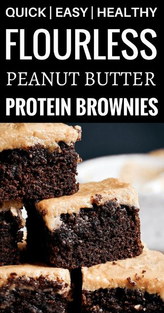 Best Coconut Flour Brownies and Peanut Butter Frosting