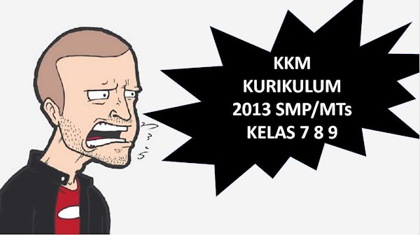Download KKM SMP /MTs Kurikulum 2013 Lengkap Kelas 7, 8, 9