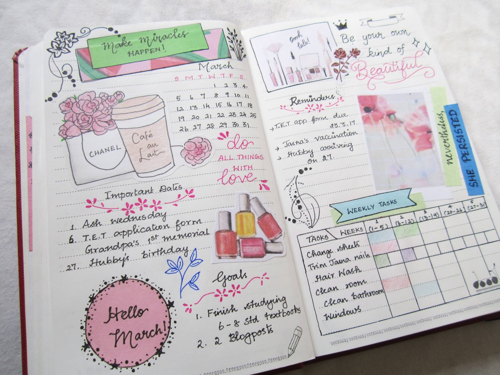 Bullet Journaling March A Little Love Everyday