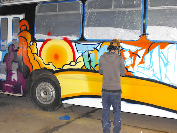 Painted Designs On Buses