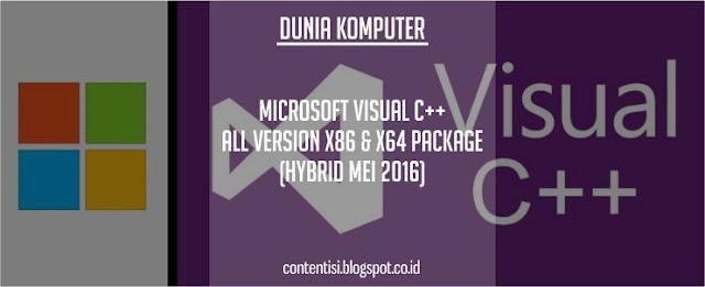 Microsoft Visual C++ All Version x86 & x64 Package (Hybrid Mei 2016)