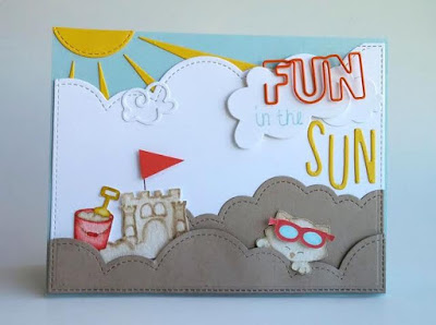 Fun in the Sun cat Card by May Guest Designer Nakaba Rager | Newton's Nook Designs #newtonsnook