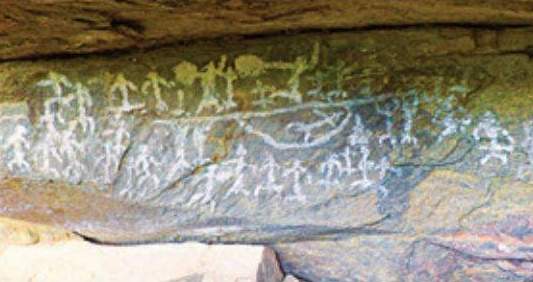 Megalithic period rock paintings found near Palani