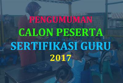 Hasil gambar untuk DAFTAR PESERTA sertifikasi guru 2017