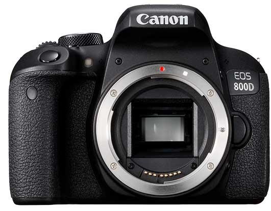 Canon EOS 800D, вид спереди