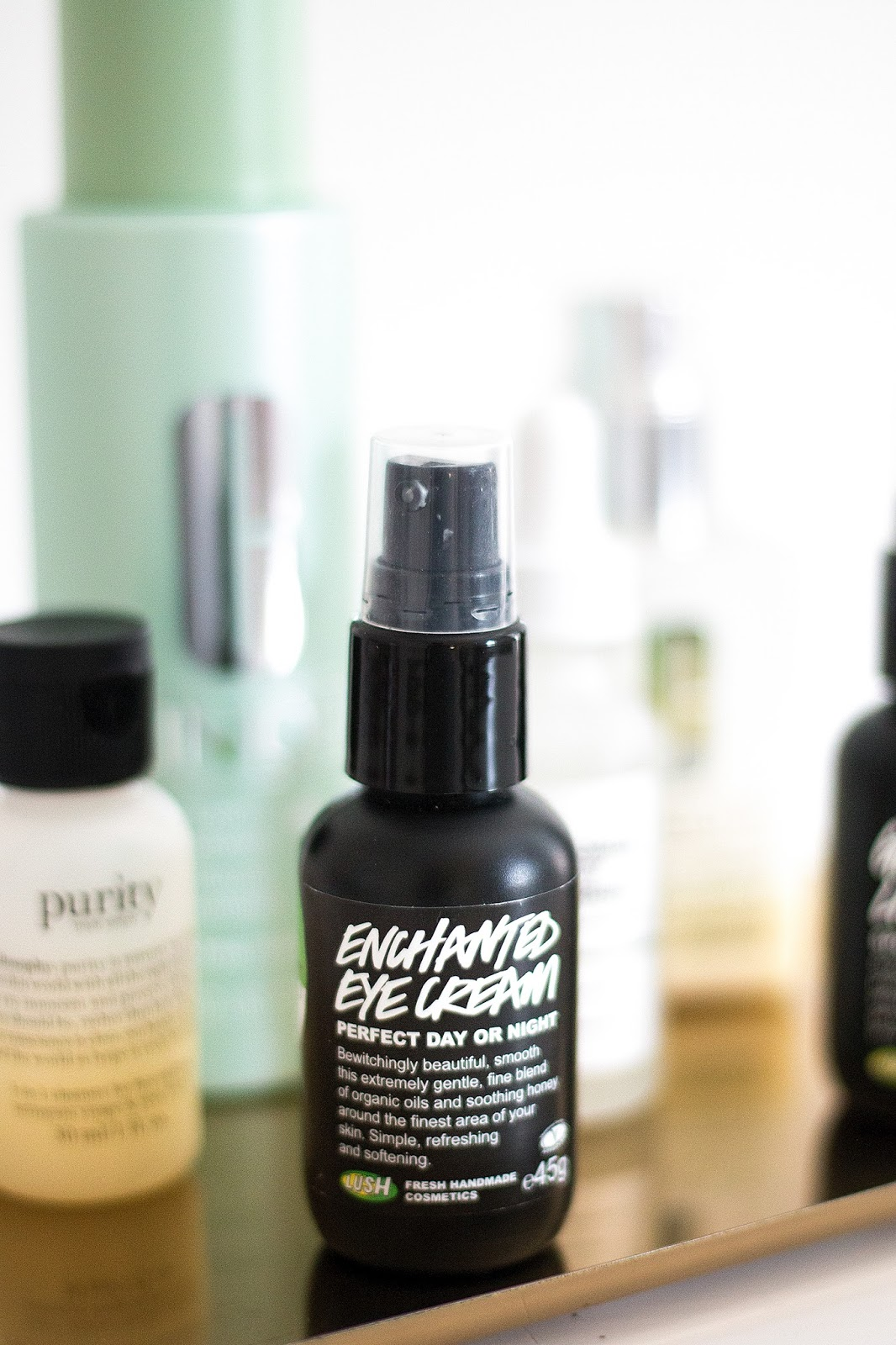 Skincare products | Lush Enchanted Eye cream | Skincare routine for dry skin