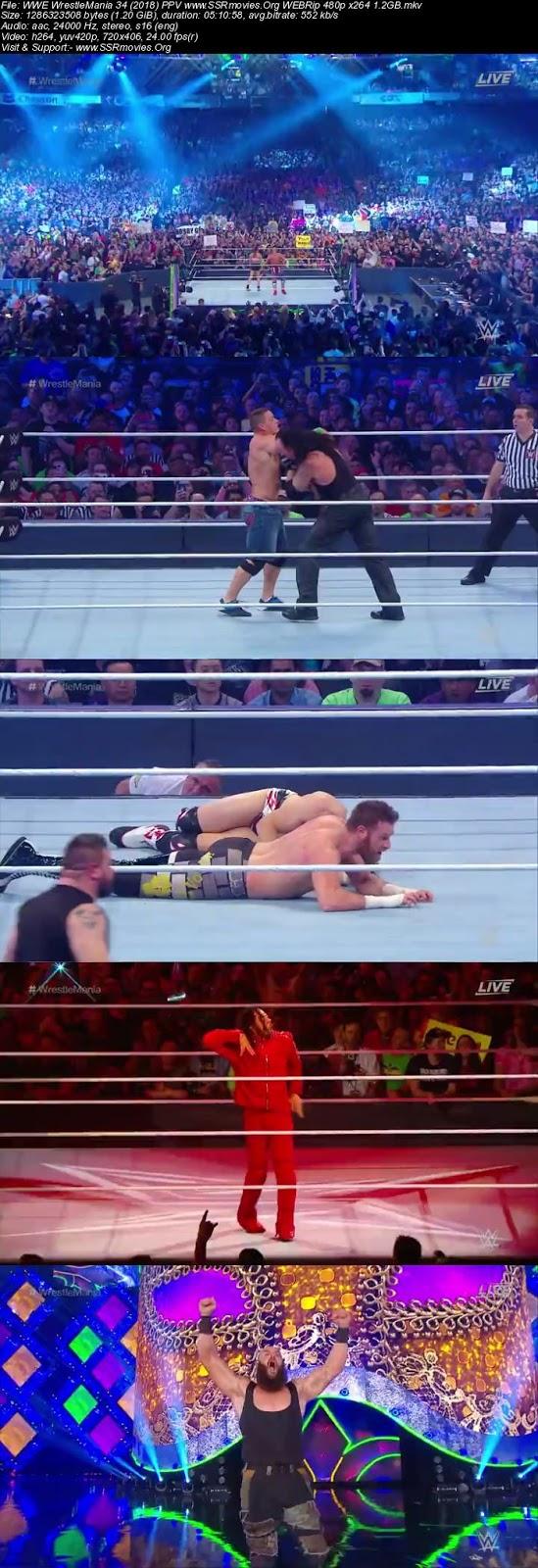WWE WrestleMania 34 (2018) PPV WEBRip 480p Full Show Download