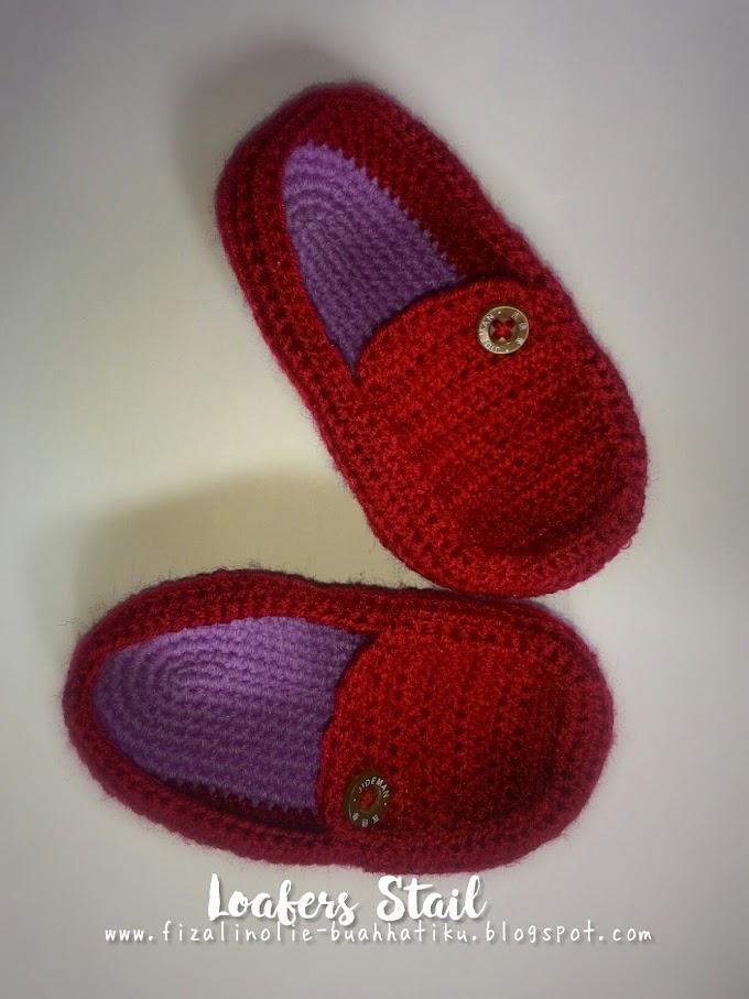Kasut Loafers Kait Untuk Baby Boy