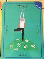 tree pose in yoga pretzels activity
