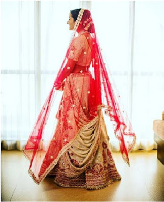 Isheta in her bridal lehenga