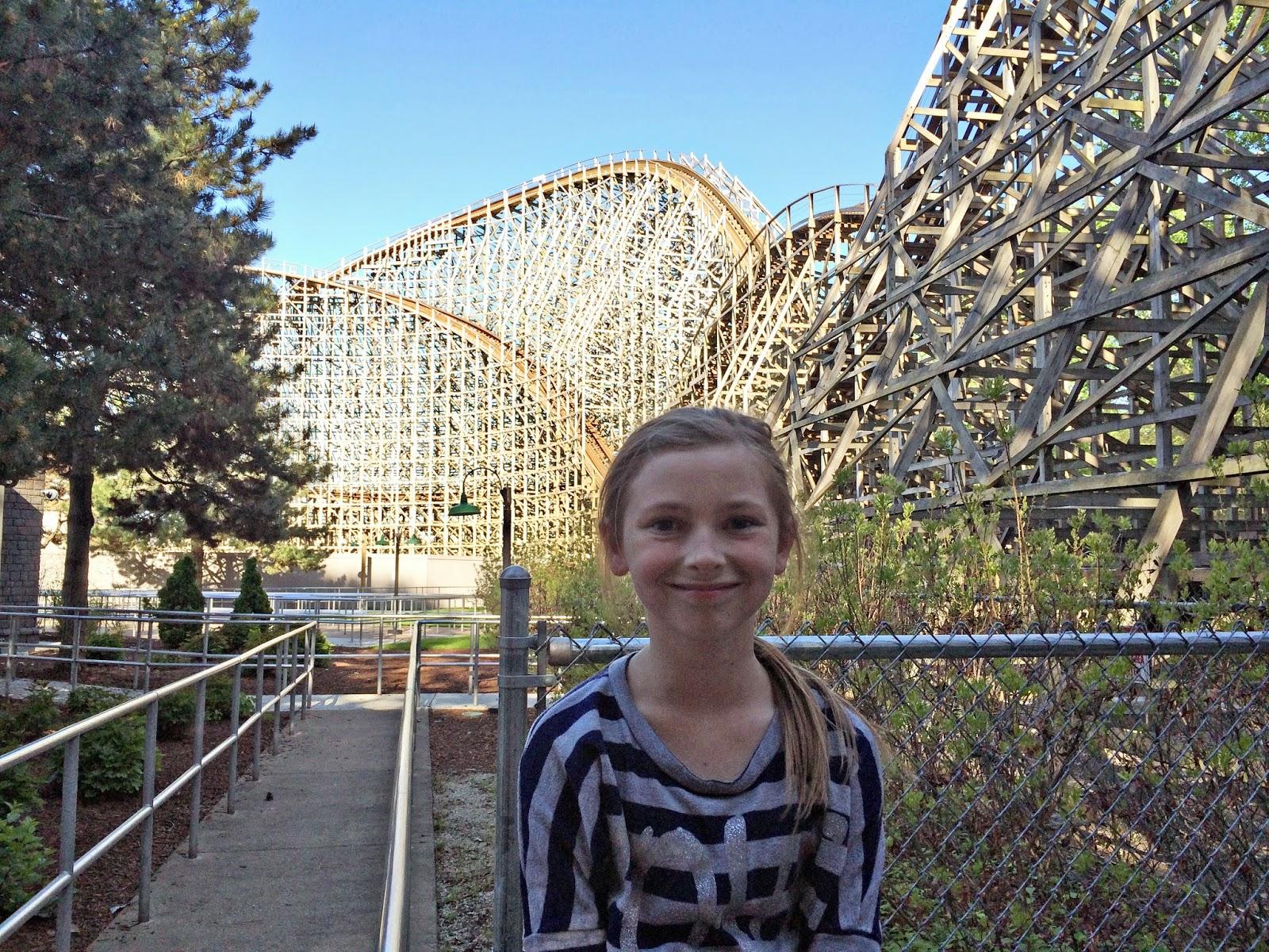 wooden roller coaster Cedar  Point