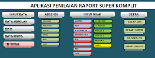 Aplikasi Penilaian Raport SMP KTSP Super Komplit