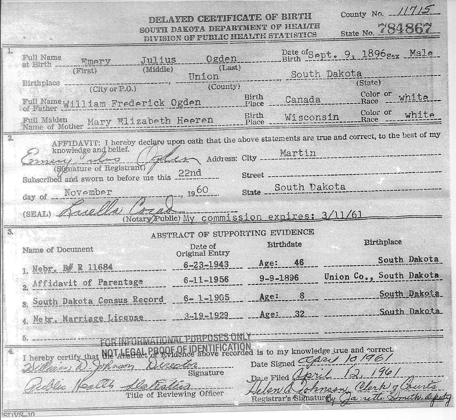 Free Resume Sample Copy Of Birth Certificate Nebraska Resume Sample
