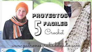 5 Proyectos Fáciles en Crochet para regalar a papá - videos