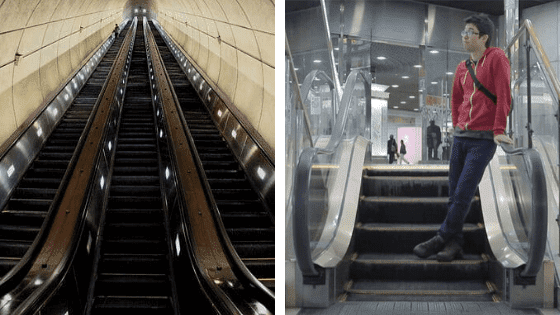 The longest/shortest escalator