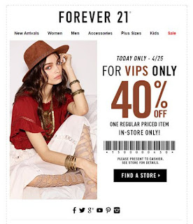 Forever 21 coupon codes